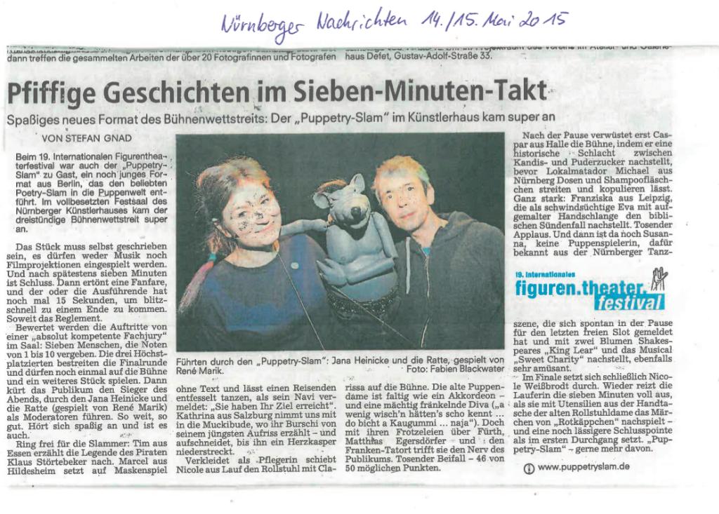 Nürnberger Nachrichten Puppetry Slam